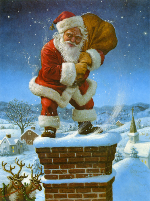 CS414_Santa on Chimney (522x700, 162Kb)