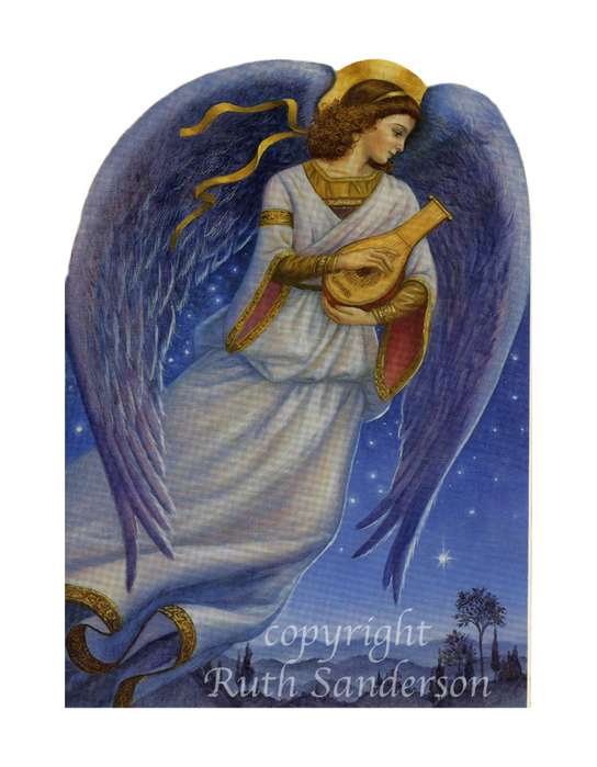 CA109_Angel with lute (544x700, 359Kb)