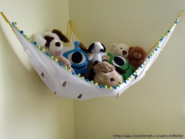 Трикотажные полочки для хранения игрушек