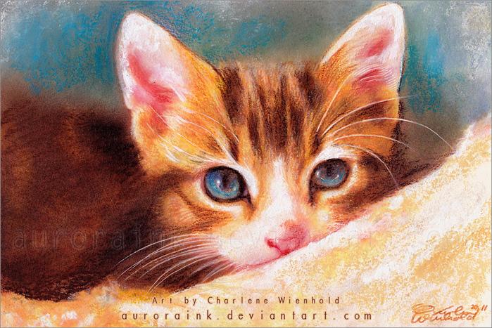 Макияж кошки мастер класс акварель пошагово #10