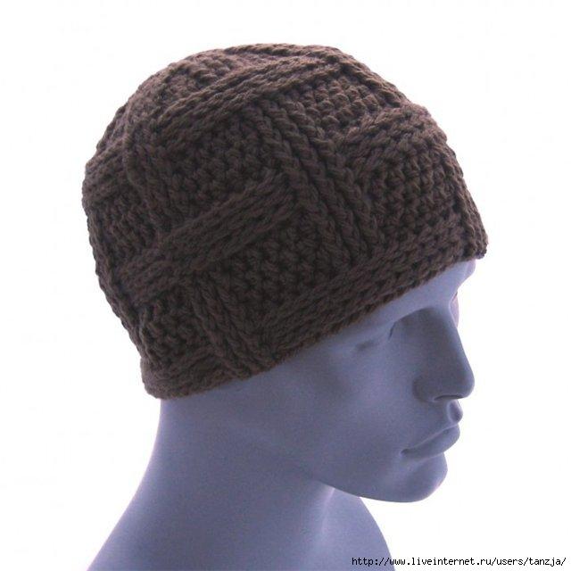 Описание: и спицами.  Вязание мужских шапок Схемы.