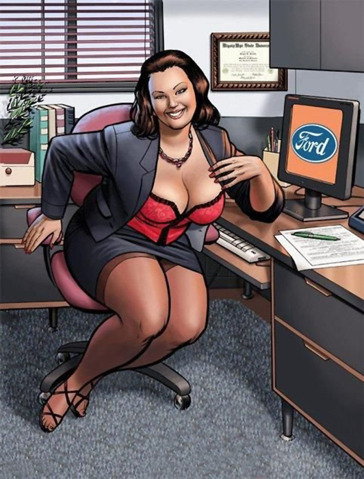 Красивые рисованные сексуальные толстушки и. пышки.
