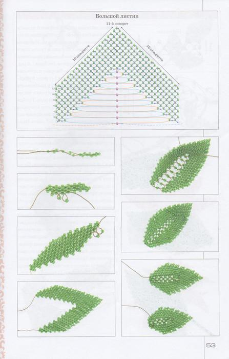 Цветы из бисера. Уникальный букет-52 (447x700, 39Kb)