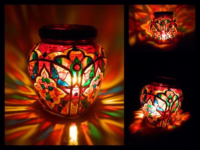 Как сделать из стеклянной банки фонарик