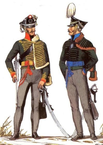14 гусары российско-германского легиона (398x558, 61Kb)
