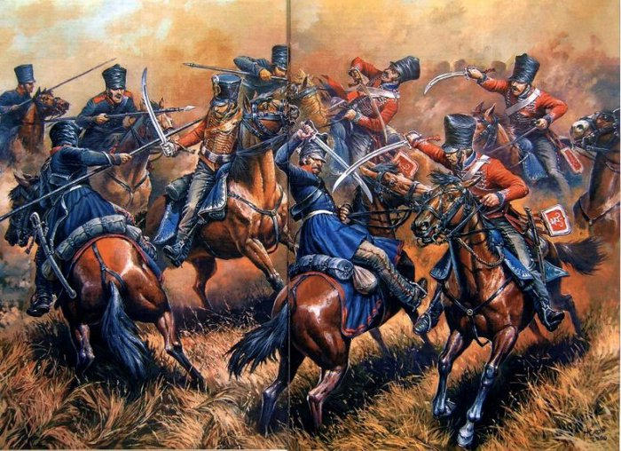 15 Изюмские гусары против французов (700x508, 124Kb)