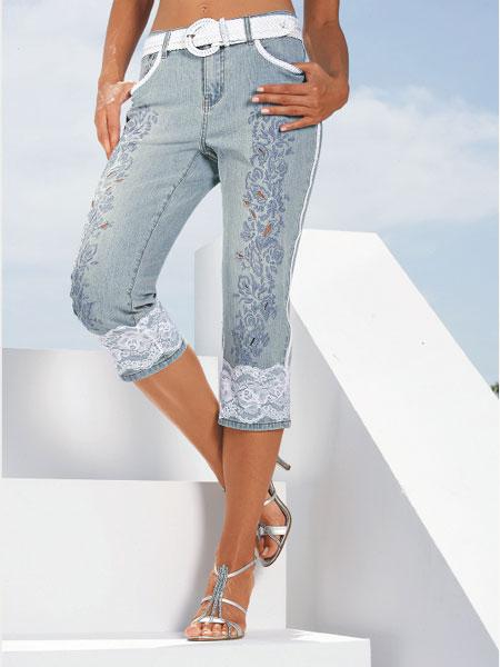 Капри из джинсов своими руками