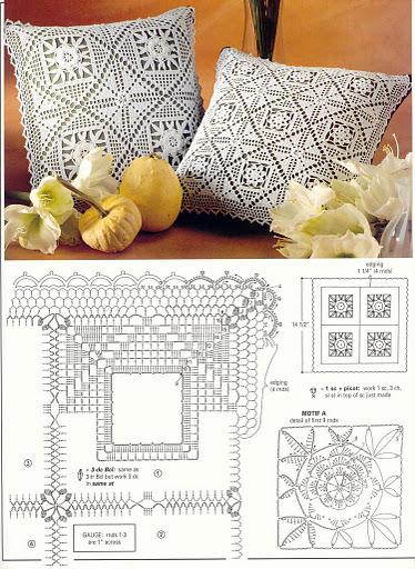 Схемы салфеток на диван