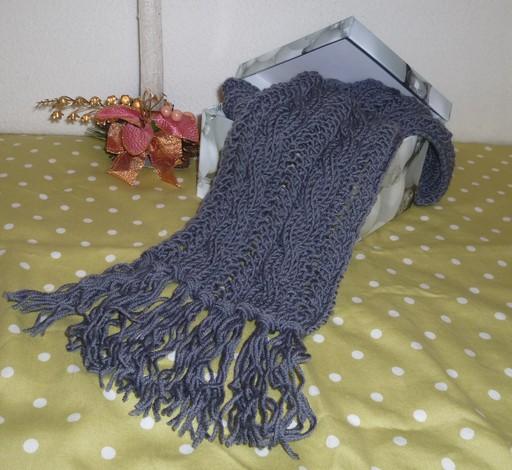 Связать крючком мужской шарф