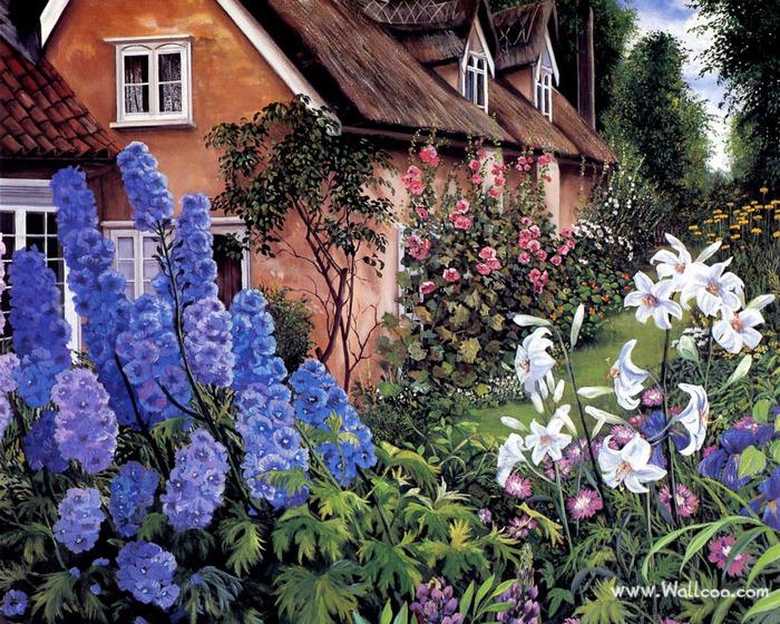 Art_painting_of_Susan_Rios_10_Delphiniums (700x560, 265Kb)