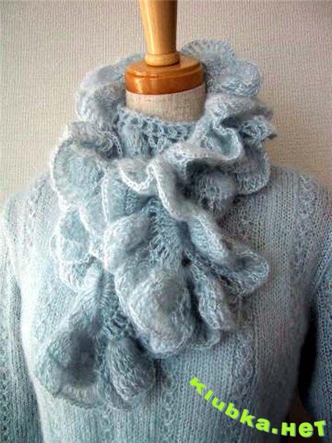Мужские вязаные шарфы своими руками