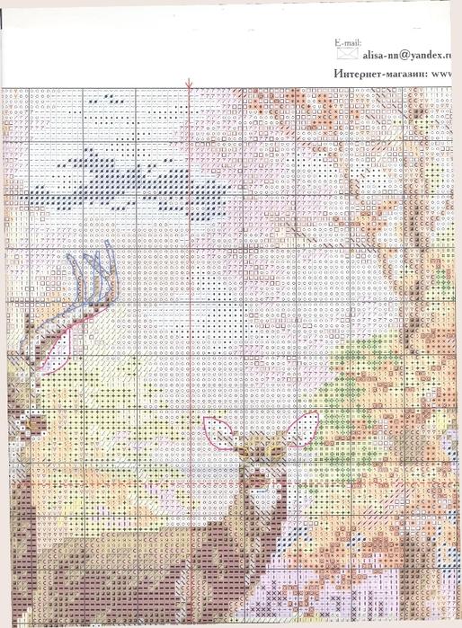 1-09 2 Олени в осеннем лесу (514x700, 345Kb)