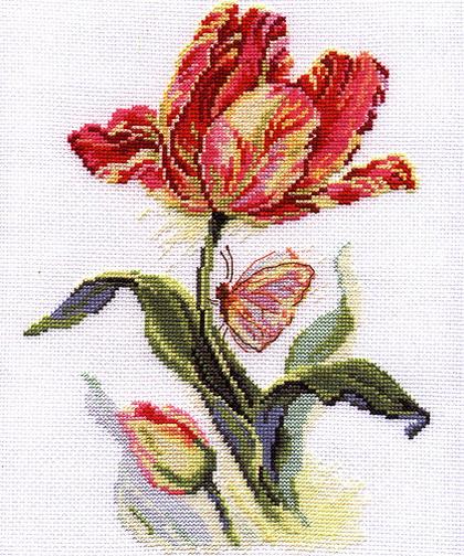 2-14 0 Тюльпан и бабочка (420x504, 121Kb)