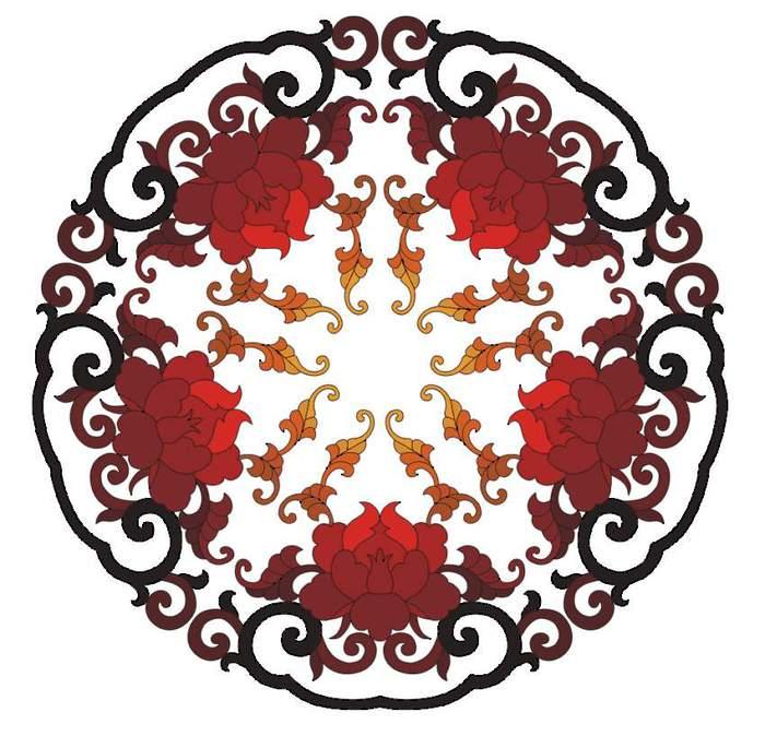 Круглые декоративные узоры для