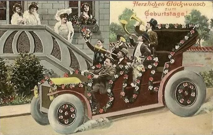 Картинки открытки с днем рождения старые 193