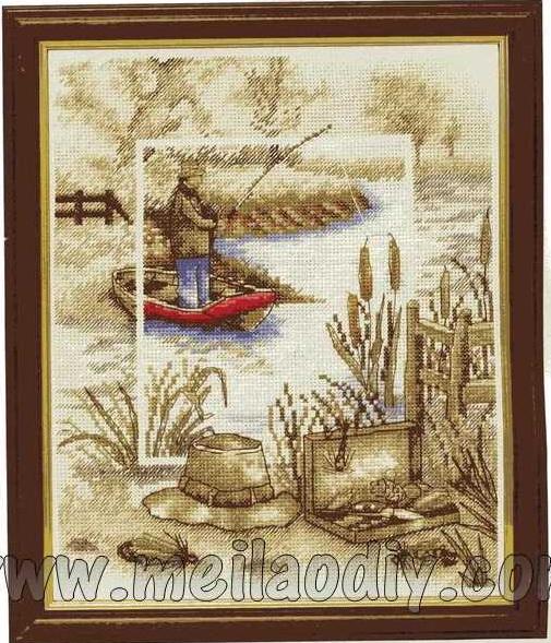 наборы для вышивки на тему охота и рыбалка
