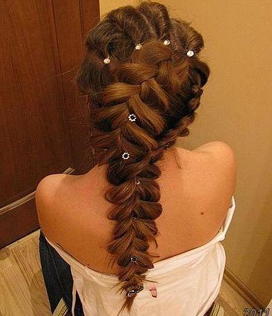 Причёски с плетением кос фото
