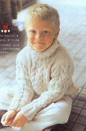 Вязание. Свитер для мальчика.