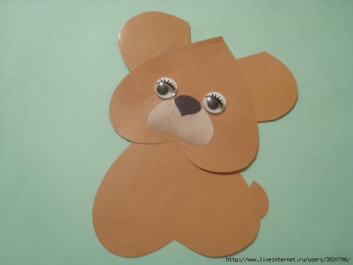 Медведь из бумаги своими руками