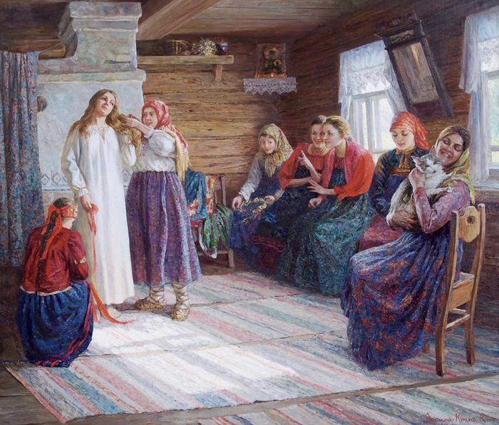 Антохина-Куракса Наталья .Крестьянская свадьба (700x596, 518Kb)