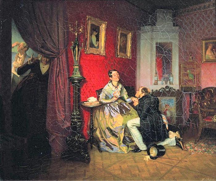 Федотов Павел Андреевич Разборчивая невеста. 1847 (700x586, 486Kb)