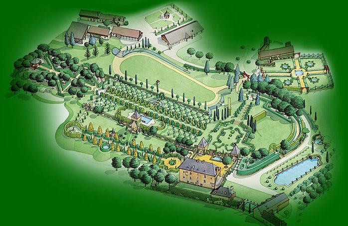 Сады поместья Эриньяк /Les Jardins du Manoir D'Eyrignac 33277