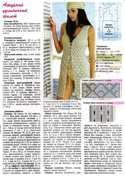 Ажурные модели вязание спицами для женщин с описанием и схемами