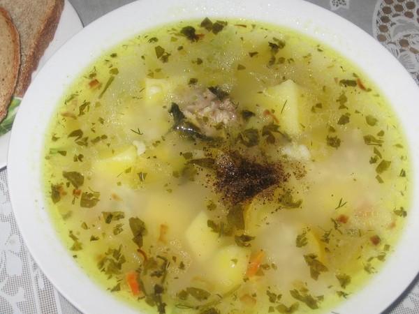 Суп с маринованными кабачками и патиссонами (600x450, 68Kb)