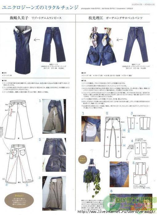Как сшить из старых джинс платья 487