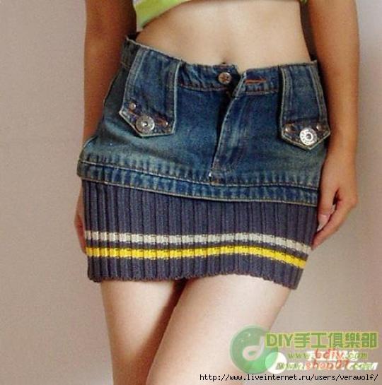 как сшить юбку из старых джинсов для девочки - Сумки.