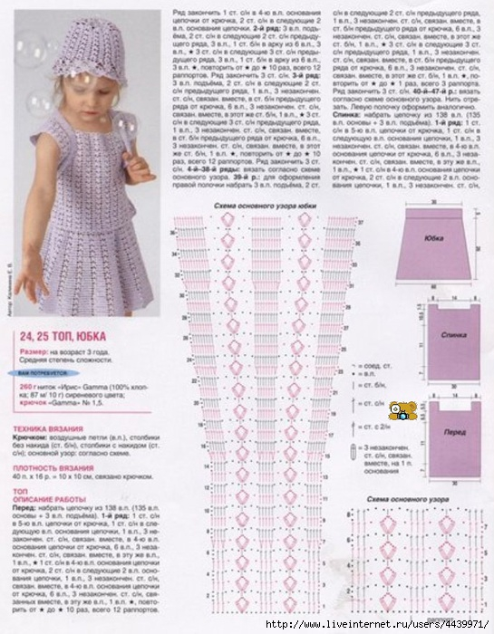 Как связать красивую юбку для девочки спицами с описанием 17