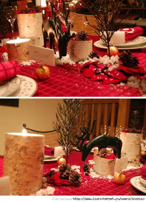 Вот такую новогоднюю сервировку можно сотворить.  Добавлено спустя 6 минут 1 секунду.