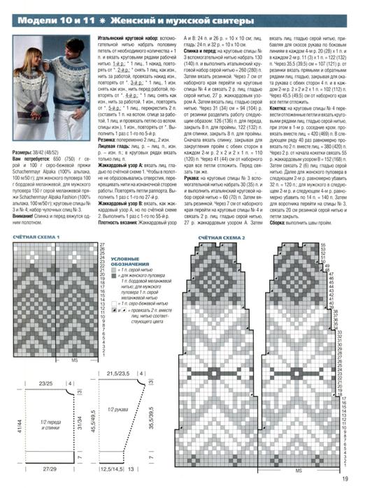 Узоры со схемой для плотного вязания спицами