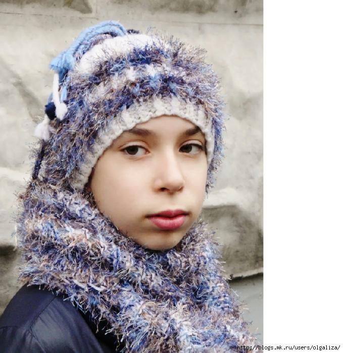 Вязание шапок из пряжи для девочки 394