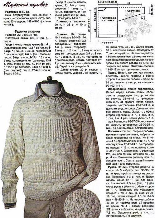 Мужские вязаные свитера вязание спицами