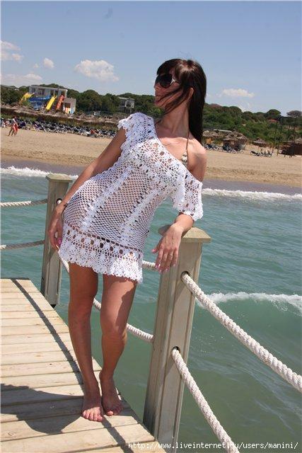 Пляжное платье крючком. - Вязание 42