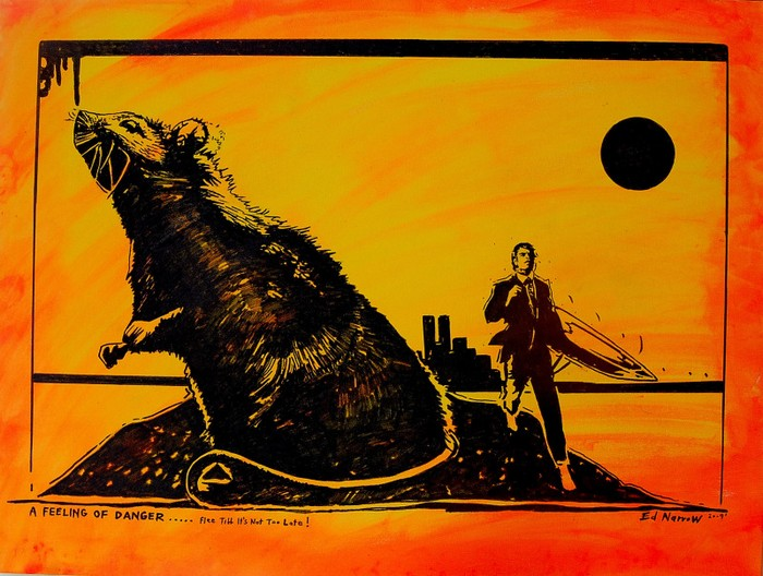 Яркий сюрреализм в искусстве Эда Нэроу (Ed Narrow) - A Feeling of Danger (700x528, 119Kb)