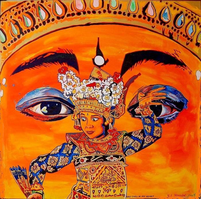 Яркий сюрреализм в искусстве Эда Нэроу (Ed Narrow) - Bali Lives in my heart (700x696, 200Kb)