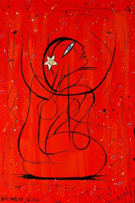 Яркий сюрреализм в искусстве Эда Нэроу (Ed Narrow) - Balinese Girl (465x700, 281Kb)