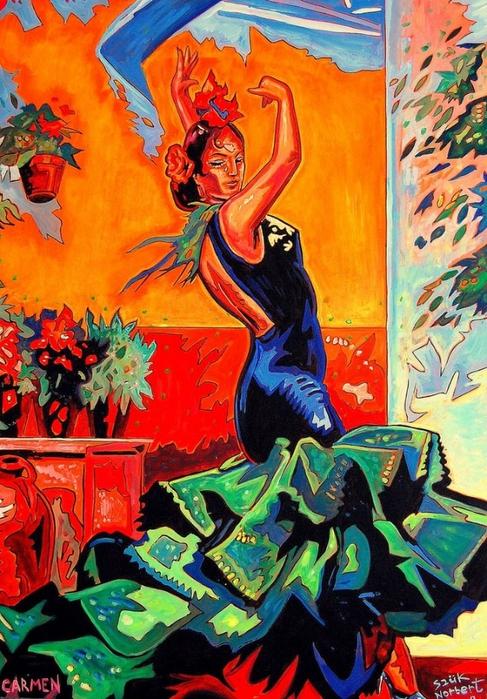 Яркий сюрреализм в искусстве Эда Нэроу (Ed Narrow) - Carmen now (487x700, 347Kb)