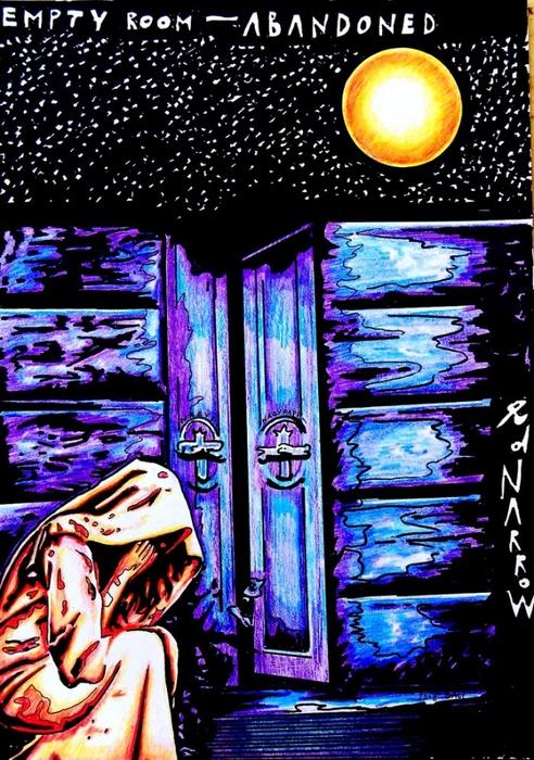 Яркий сюрреализм в искусстве Эда Нэроу (Ed Narrow) - Empty room (492x700, 346Kb)