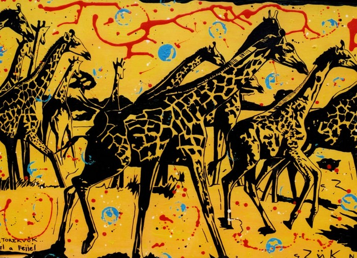 Яркий сюрреализм в искусстве Эда Нэроу (Ed Narrow) - giraffe (700x505, 189Kb)
