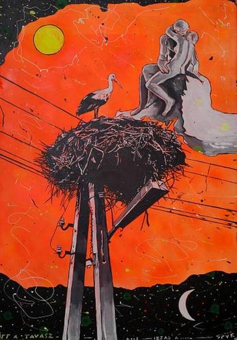 Яркий сюрреализм в искусстве Эда Нэроу (Ed Narrow) - Here Comes the Spring (488x700, 263Kb)