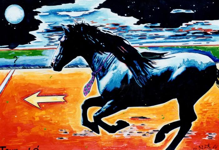 Яркий сюрреализм в искусстве Эда Нэроу (Ed Narrow) - horse (700x480, 129Kb)