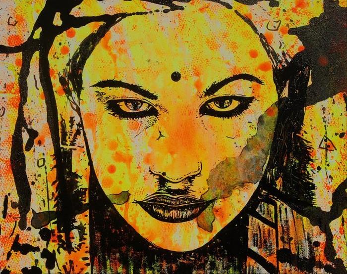 Яркий сюрреализм в искусстве Эда Нэроу (Ed Narrow) - india (700x554, 182Kb)