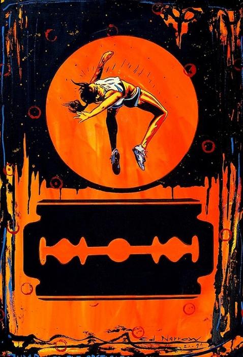 Яркий сюрреализм в искусстве Эда Нэроу (Ed Narrow) - Jump Over the Obstacles-Ed (478x700, 296Kb)
