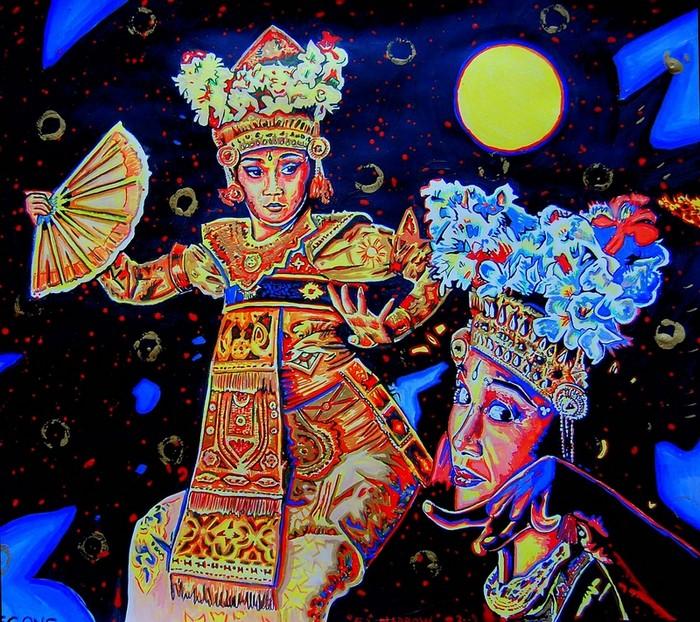 Яркий сюрреализм в искусстве Эда Нэроу (Ed Narrow) - legong 2 (700x622, 190Kb)