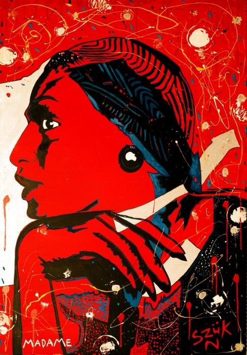 Яркий сюрреализм в искусстве Эда Нэроу (Ed Narrow) - Madame1 (487x700, 317Kb)