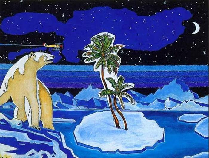 Яркий сюрреализм в искусстве Эда Нэроу (Ed Narrow) - Pure Hawaii (700x530, 120Kb)