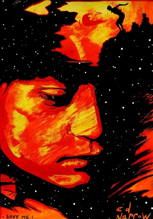 Яркий сюрреализм в искусстве Эда Нэроу (Ed Narrow) - Save Me (487x700, 236Kb)
